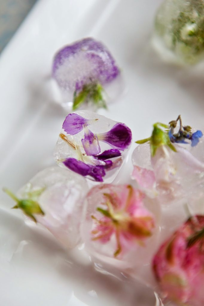 Floral Ice up Close