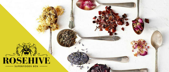 How To Make Your Own Tea Blends rosehive superfood box