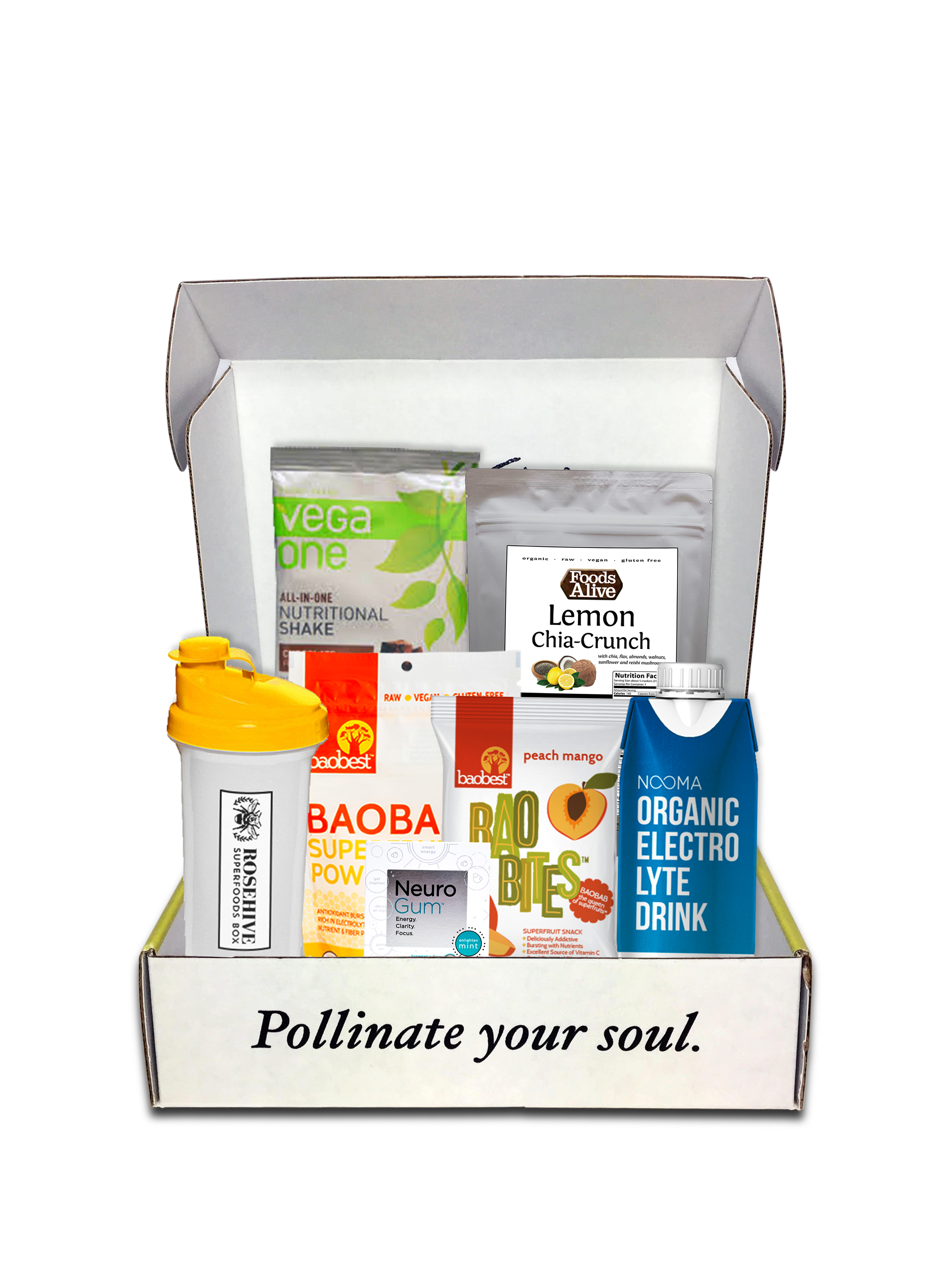 mind, body, soul box rosehive superfoods box
